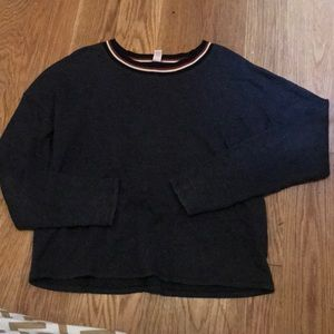 Striped collared sweater
